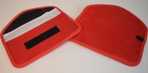 Mobile Phone Anti-Radiation Pouch (Red)